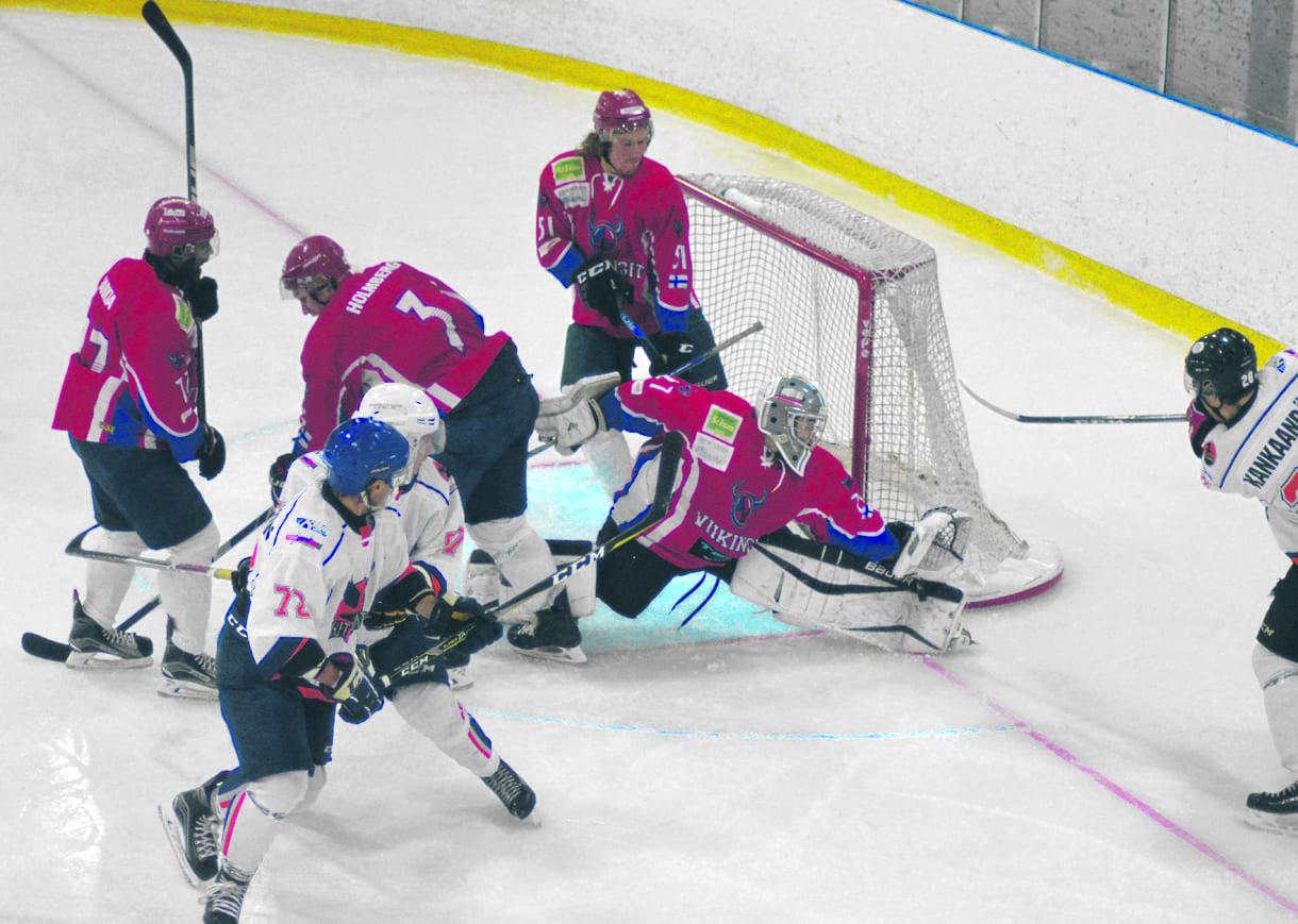 Viikinkien miesten jääkiekon edustusjoukkue pelaa 2. divisioonassa. (Arkistokuva)
