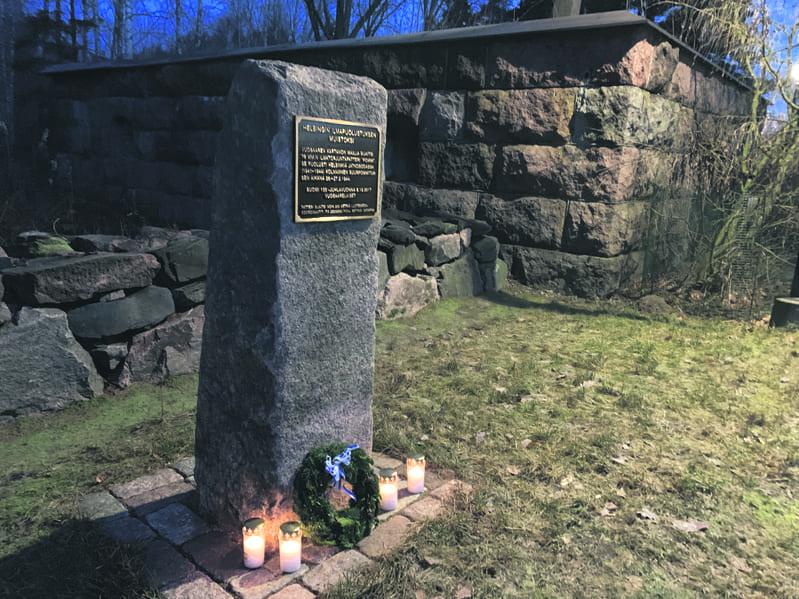 Jatkosodan muistomerkki.