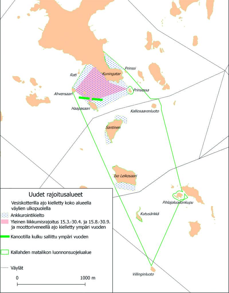 Kallahden matalikon luonnonsuojelualue kartalla.