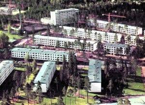 atamasaarentien–Koukkusaarentien aluetta 1960-luvulla.