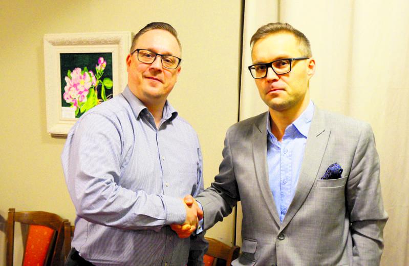 Mika Tuominen ja Oscari Seppälä.