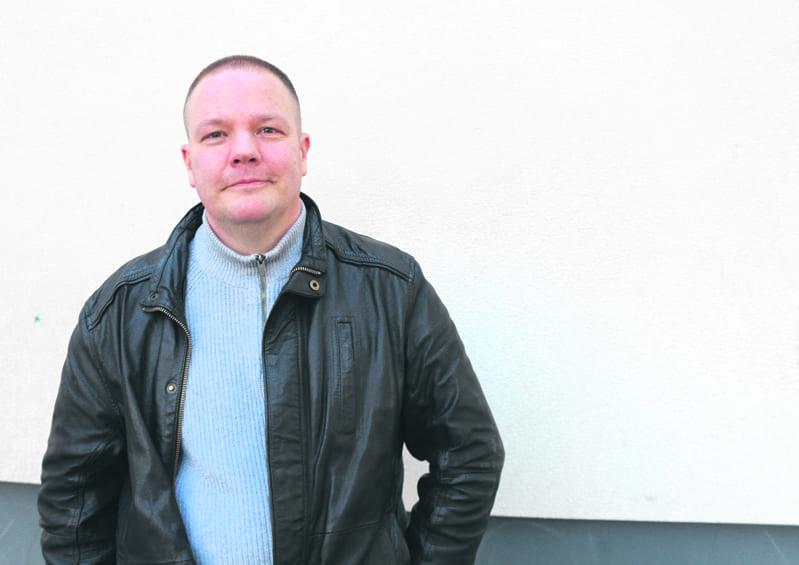 Kirjailija Markus Ahonen.