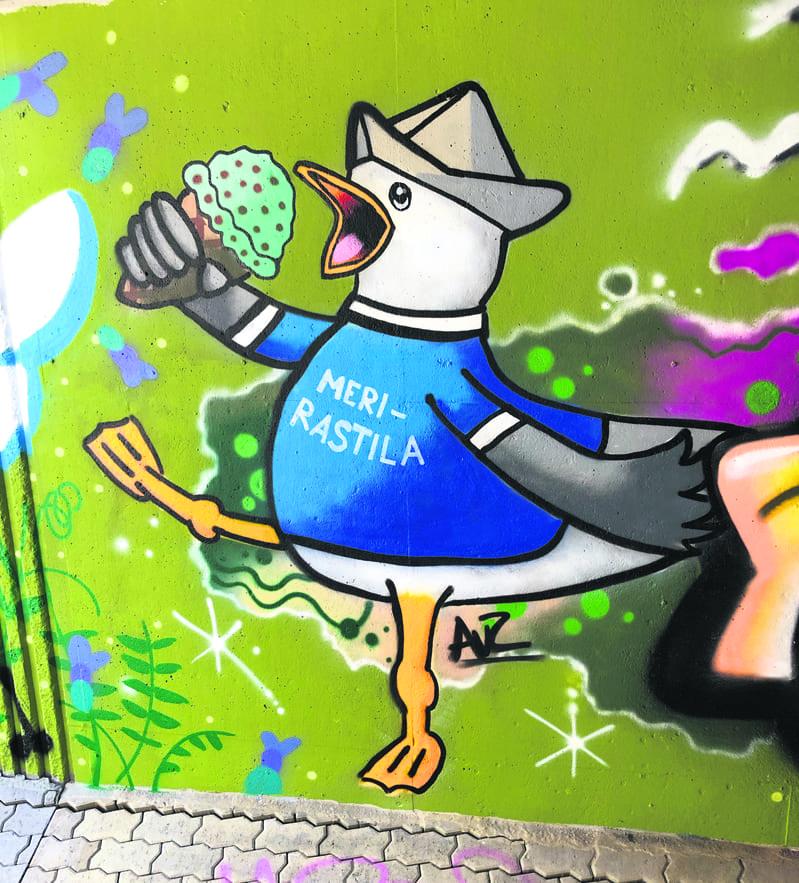 Graffitti Meri-Rastilassa.