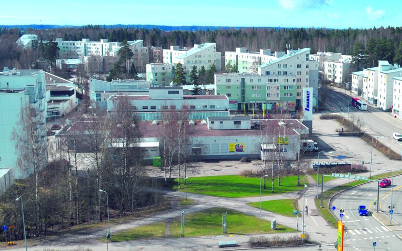 Meri-Rastilan ostoskeskus.