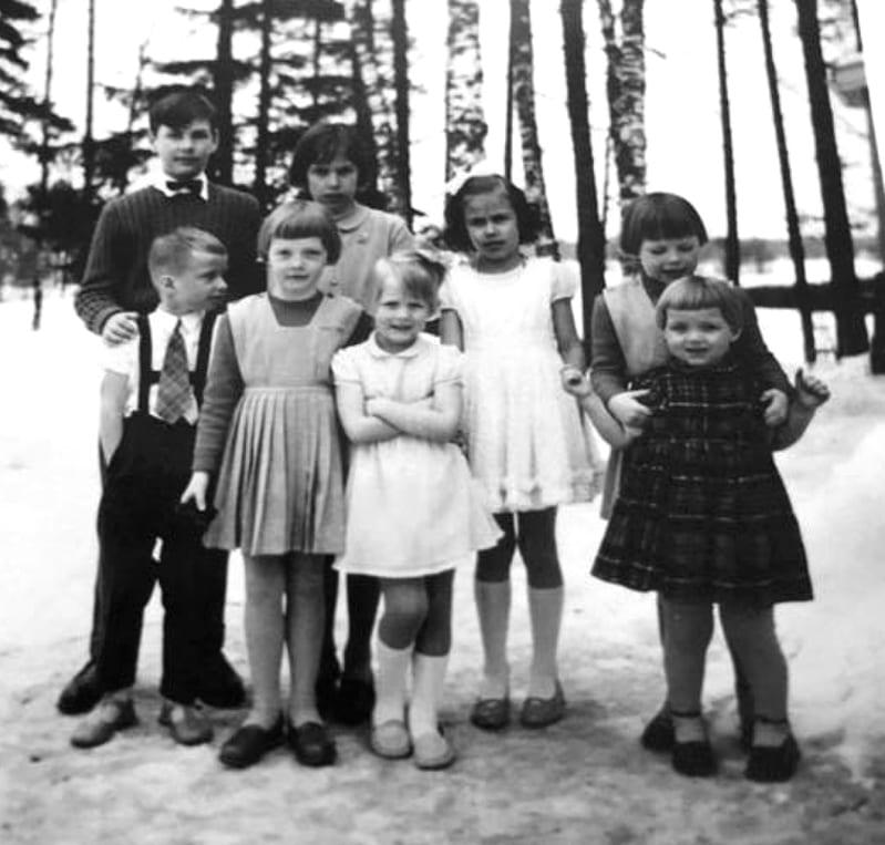 Marielundin tilalla vuonna 1958.