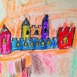 Lapset pääsivät taiteilemaan taidepajassa