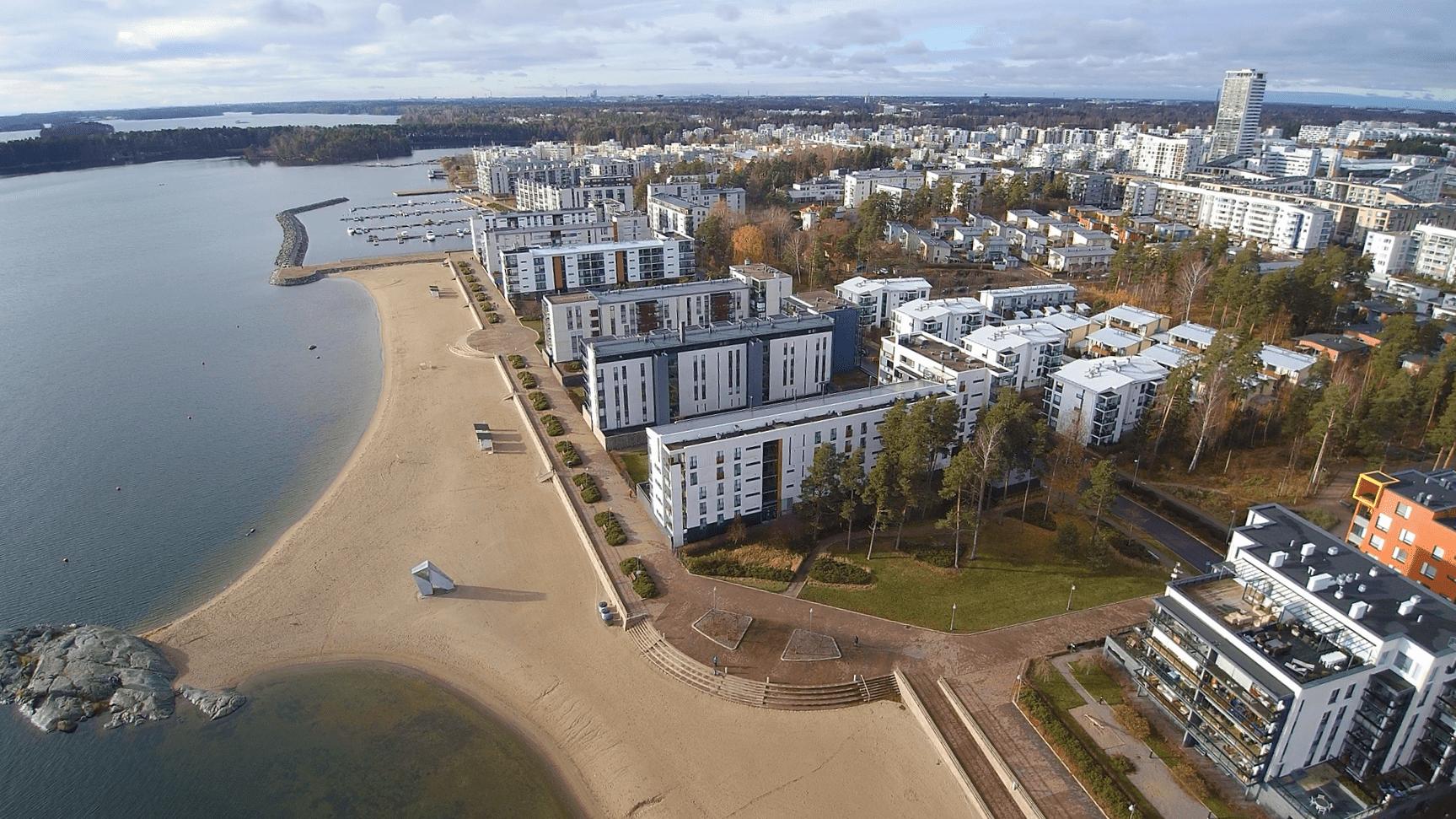 Aurinkoranta dronella kuvattuna 31.10.2019.                 Kuva: Rami Kokko