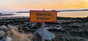 Kallvikinniemen uimarannalla paljastui kummallisia kivimuodostelmia 15.11. Kuva: Esko Vääriskoski