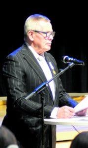 Tervehdyspuheen piti Vuosaaren Lions Clubin presidentti Terho Kulmala.