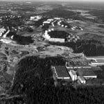Vuosaaren keskustaa ilmasta käsin ja eri ilmansuunnista vuosina 1970, 1996 ja 2016