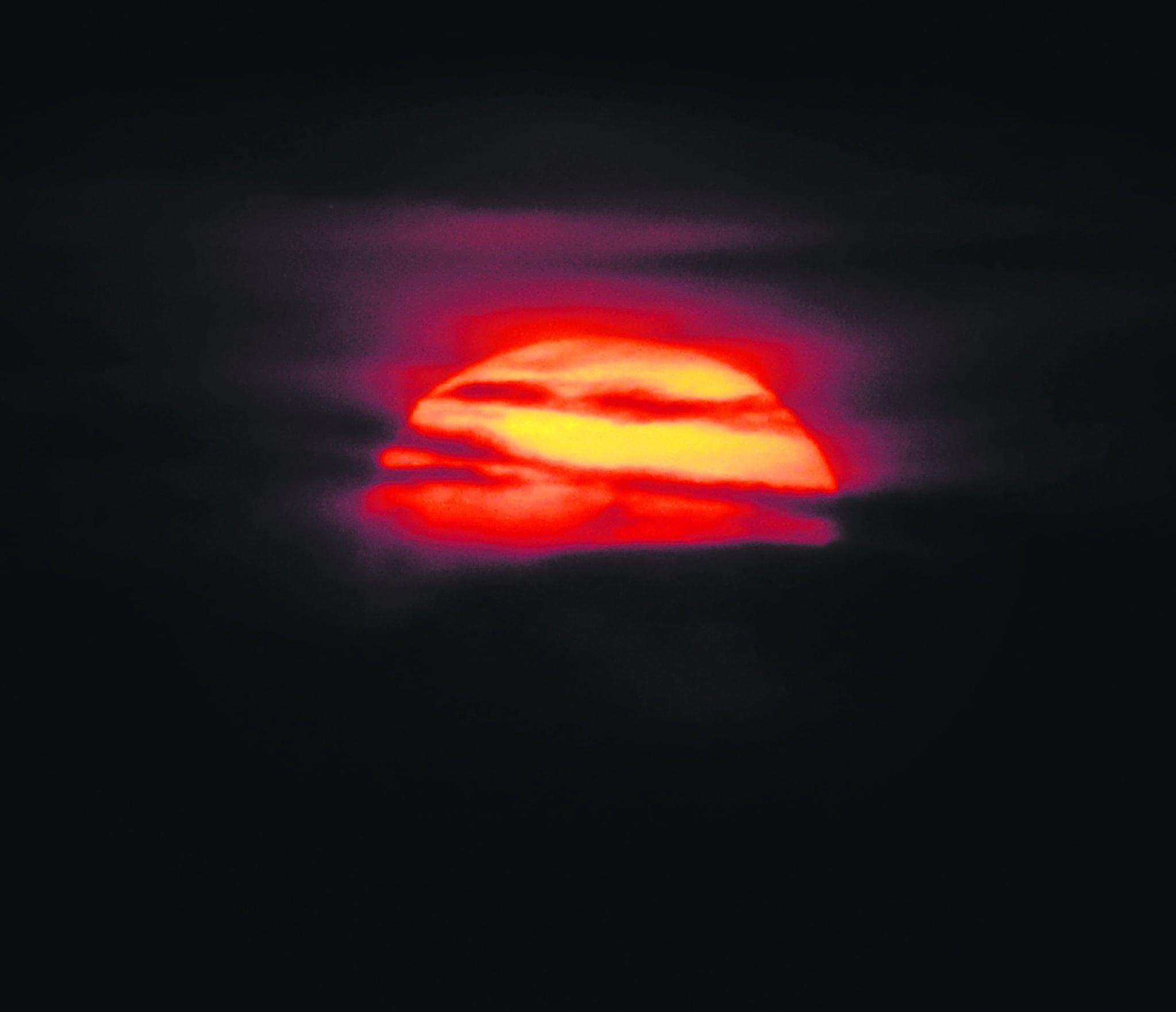 27.3. taivaalla nähtiin muutaman minuutin ajan komea haloilmiö.                          Kuva: Tuomo Holopainen