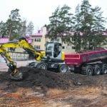 Hettarin koulun väliaikaisen lisäosan rakentaminen alkoi