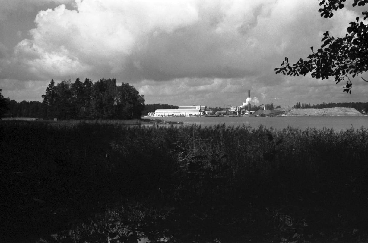 Sasekan tehdas Kallvikinniemestä päin kuvattuna. Kuva: Helsingin kaupunginmuseo, Eeva Rista 1970