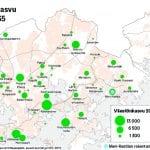 Helsingin väkiluku ylittää 700 000 asukasta vuonna 2027