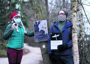 Mira Lainiola ja Tuukka Perhoniemi Uutelan Tähtipolulla.
