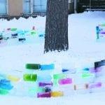 Koulun jäälinna rikottiin