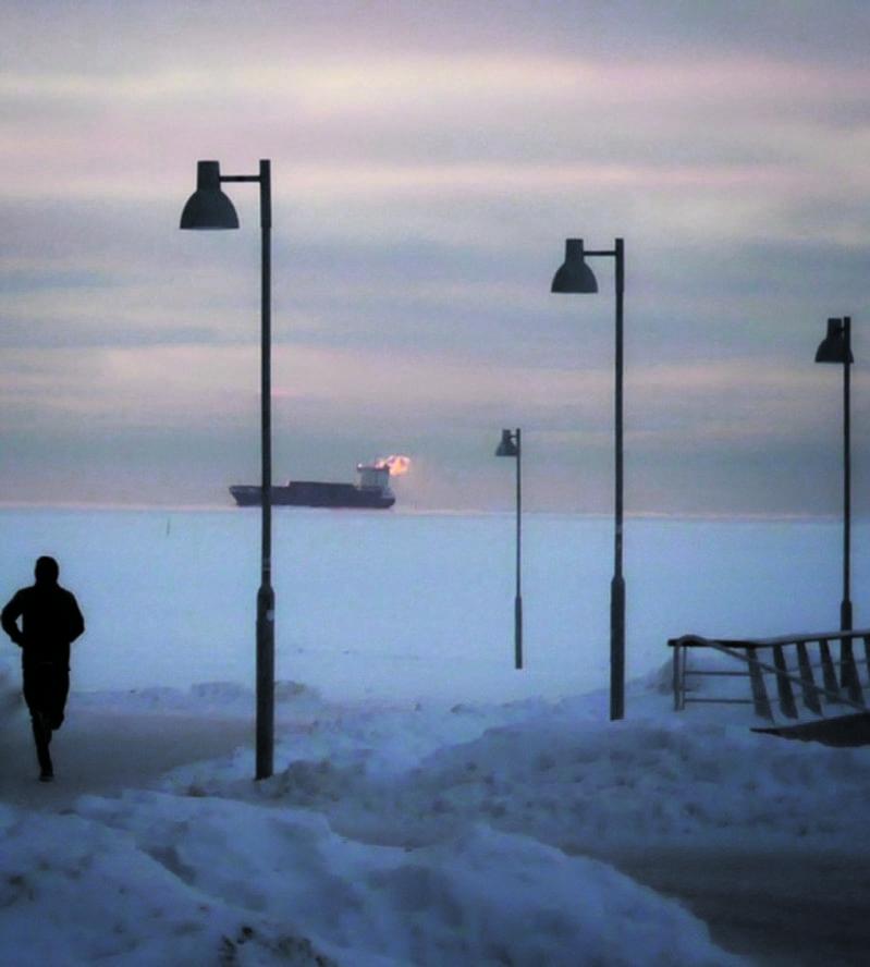 15.2. Aurinkolahden uimarannalla.             Kuva: Aage