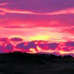 Golfkentän auringonlasku