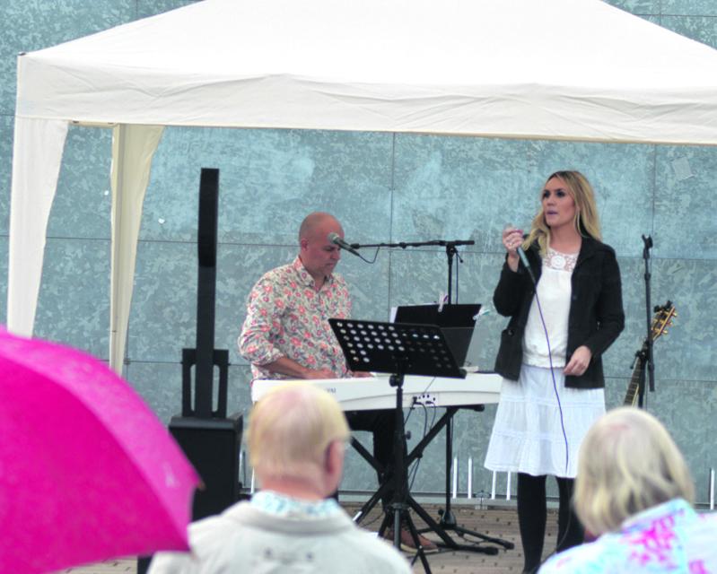 Jannike Sandström ja Niklas Rosström esiintyivät Vuotorilla 12.8.