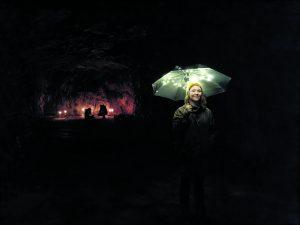 I'm So Here -esityksen visuaalinen suunnittelija Anna Uschanov. Kuva: Markus Luukkonen