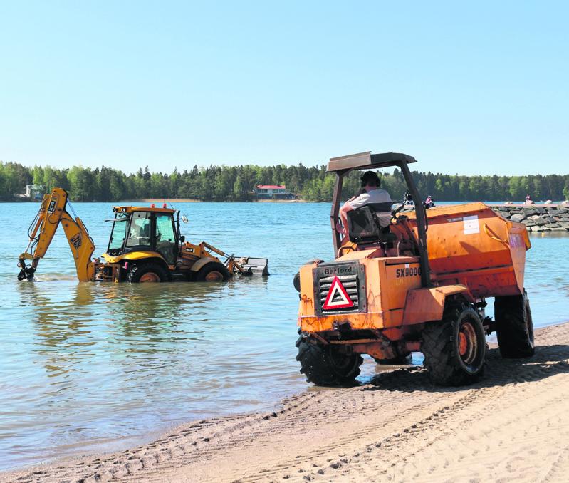 Aurinkolahden uimarannan kivien poisto oli yksi OmaStadin viime kerralla toteutuneista ehdotuksista Vuosaaressa.
